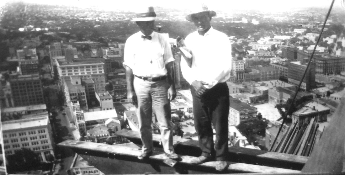 Atop the Smith Young Tower (Tower Life) skeleton during construction, downtown San Antonio, 1929  | Drink up the history with The Barwalk, San Antonio TX