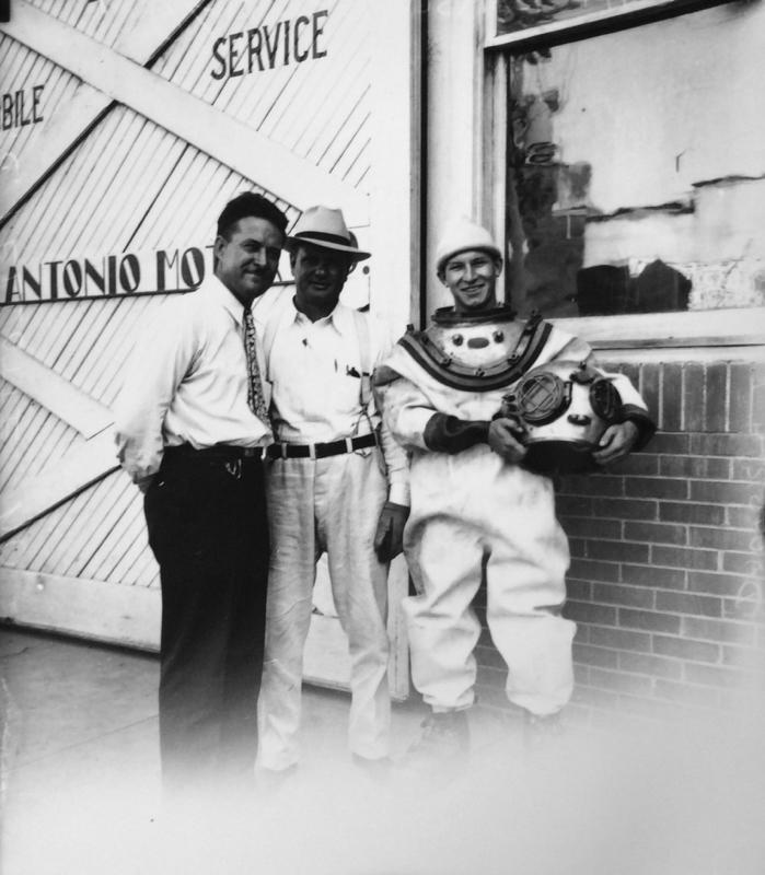 Diving Medina Lake circa 1930s  | Drink up the history with The Barwalk, San Antonio TX