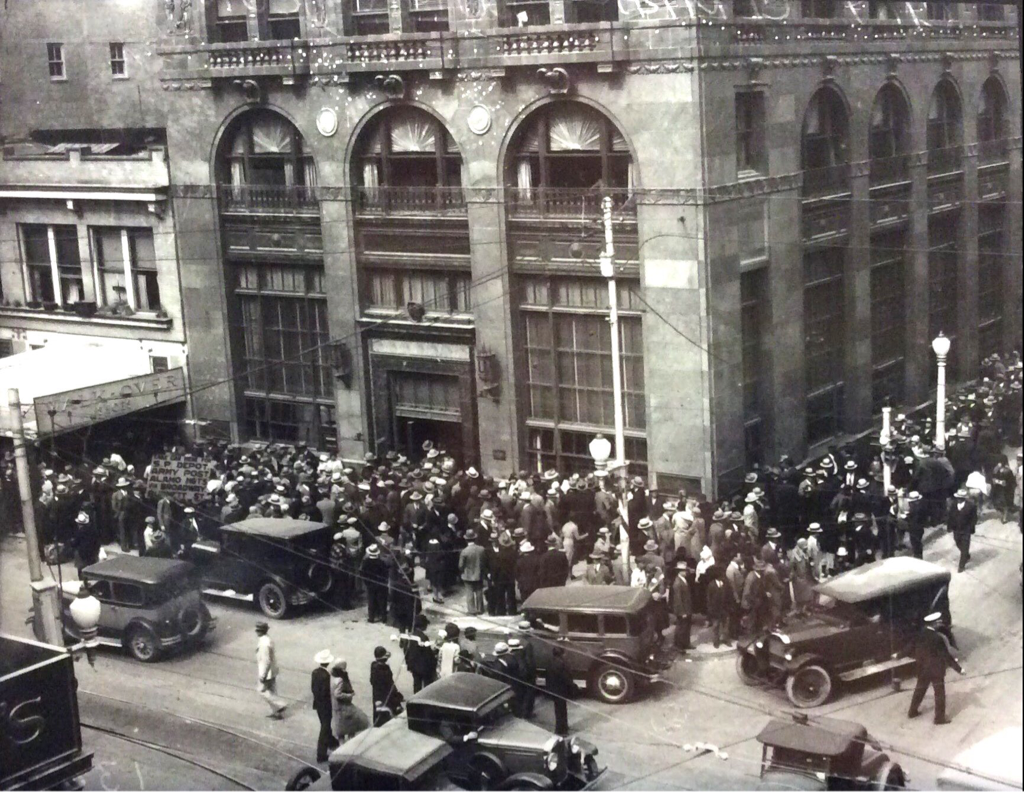 Safety deposit box renters outside the Central Bank & Trust Co. | Drink up the history with The Barwalk, San Antonio TX